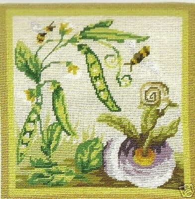 Honey Bees And Turnips Tapestry Needlepoint Canvas DMC