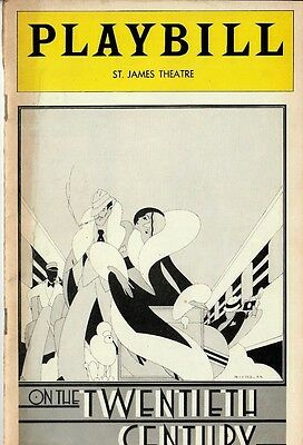 On the Twentieth Century - 1980s Broadway Musical program