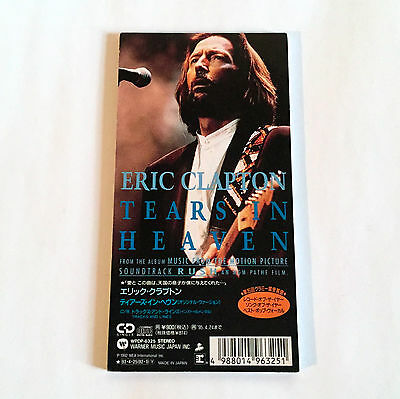"ERIC CLAPTON Tears In Heaven JAPAN EDITION 3"" CD Single 1993"