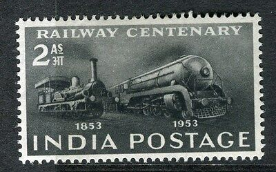 INDIA;  1953 Railway Centenary issue fine MINT hinged 2a. value
