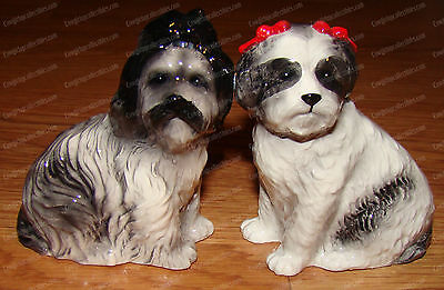 SHIH TZUS Magnetic, Ceramic Salt & Pepper Shakers (Attractives, 10775)