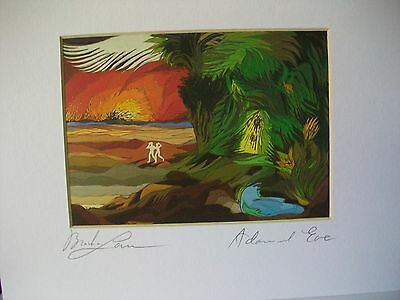 Adam and Eve-Signed print by Lavee
