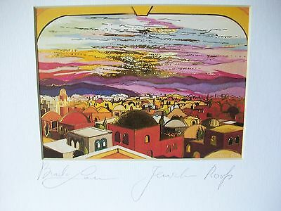 Jerusalem Roofs-Signed print by Lavee