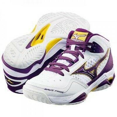 WAVE PRIDE BB2 Women's Basketball Shoes 13KL350 White X purple Mizuno Japan