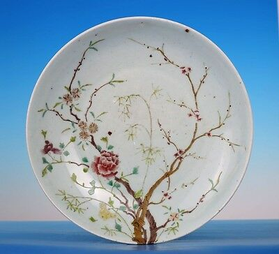 Large Rare Antique Chinese White Porcelain Plate Decorative Collection