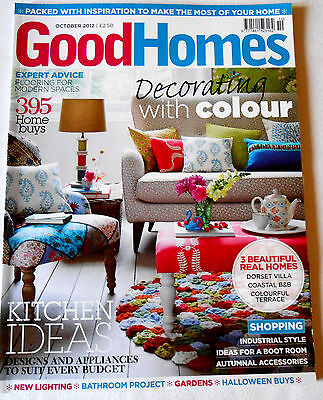 Good Homes Magazine October 2012 Decorating with Colour Kitchen Ideas Dorset vgc