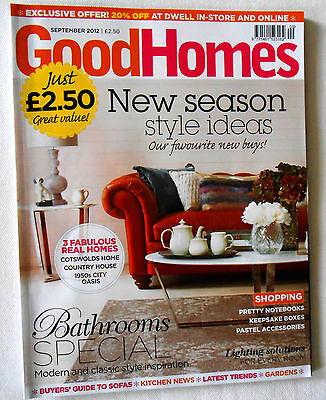 Good Homes Magazine September 2012 Style Cotswolds 1950s Bathrooms vgc