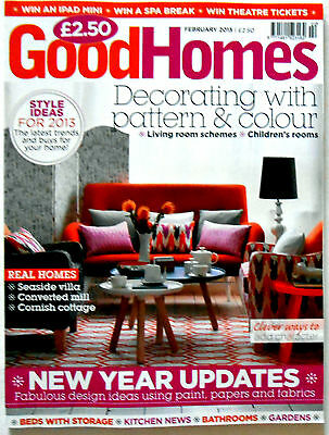 Good Homes Magazine February 2013 Decorating With Pattern & Colour New Year vgc