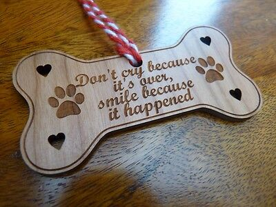 Wooden Dog Memorial decoration Plaque