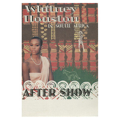 Whitney Houston authentic Aftershow 1995 tour Backstage Pass