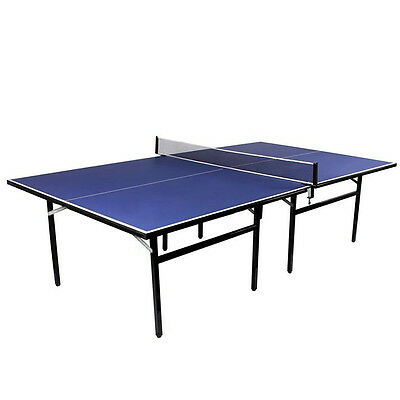 Practical Indoor Outdoor Table Tennis Ping Pong Table Blue Full Size Adjustable