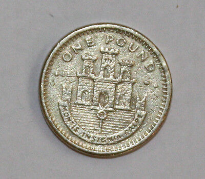 2002 Gibraltar Castle and Key £1 One Pound Coin