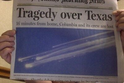 Dallas Morning Newspaper TRAGEDY OVER TEXAS Vintage 2003 12 PAGE REPORT COLUMBIA