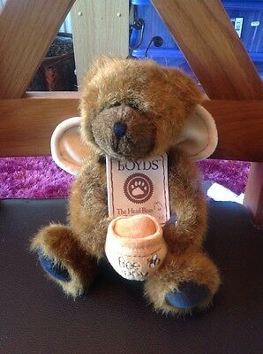 Boyds Bear bee happy...the head bean collection with tag