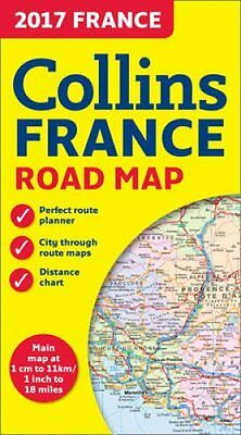 2017 Collins Map of France by Collins Maps 9780008203603