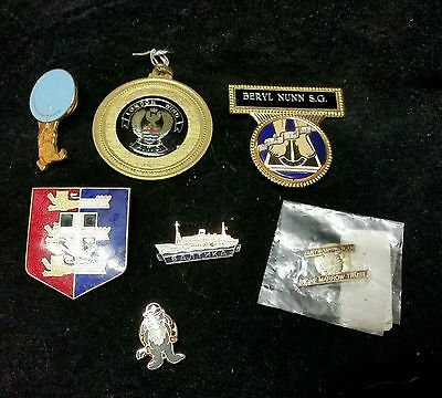 Job Lot of 7 Enamel Badges Pins etc