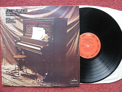 Jerry Lee Lewis - Who's Gonna Play this Old Piano? 1972 US Rockabilly LP. VG+/EX