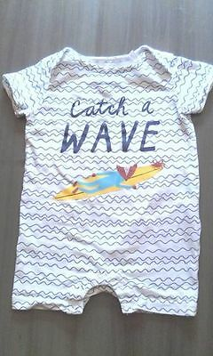Joules Baby Catch a Wave Romper Size 3-6months