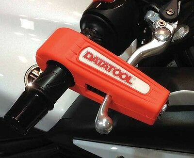 Datatool Croc Lock Orange Motorcycle Motorbike Brake Lever Security Lock
