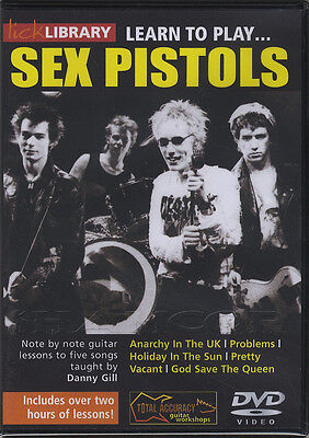 Learn To Play Sex Pistols Guitar DVD Punk Rock Lick Library Anarchy in the UK