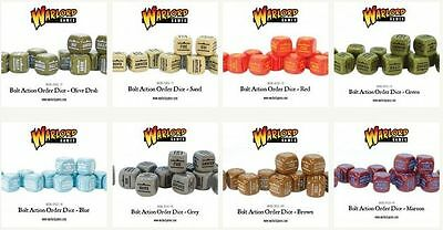 Warlord Games WWII Bolt Action Order Dice Full Range / Colours Free UK P&P