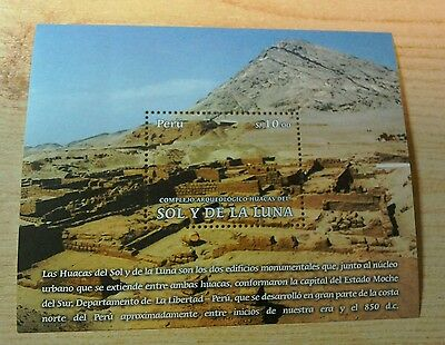 Peru 2013 Archeological site of Sun and Moon M/S MNH per scan
