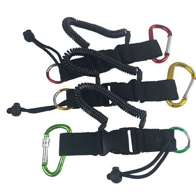 Scuba Diving Camera Lanyard Quick Release Spiral Coil Stainless Steel Clips