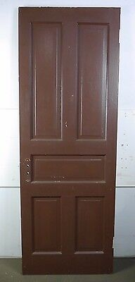 "Antique Vintage 5-Panel Interior Door 77-1/4"" X 27-7/8"" Early 1900's (D5)"