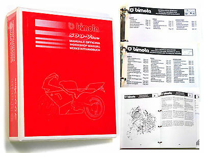 Workshop Manual Bimota 500 V2 - Manuale Officina - ITALIANO - ENGLISH - DEUTSCH