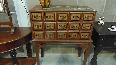Oriental / Chinese - 15 Draw Apothecary type Display / storage cabinet  - UK Del