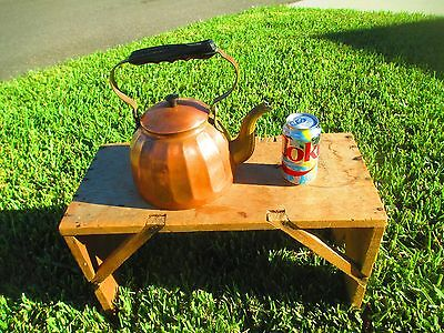 Vtg Large German Copper Kettle Wood Burning Stove Humidity Pot Fireplace
