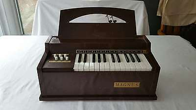 Vintage MAGNUS 1967 Model 300 Working Electric Chord Organ with Music Stand