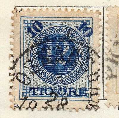 Sweden 1889 Early Issue Fine Used 10ore. Surcharged 123269
