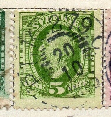 Sweden 1891-1903 Early Issue Fine Used 5ore. 123272