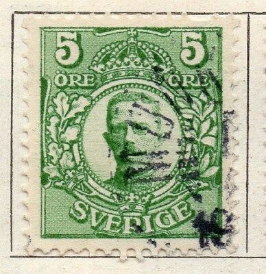 Sweden 1910-11 Early Issue Fine Used 5ore. 123298