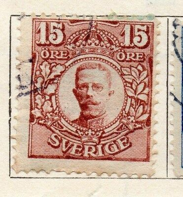 Sweden 1910-11 Early Issue Fine Used 15ore. 123301