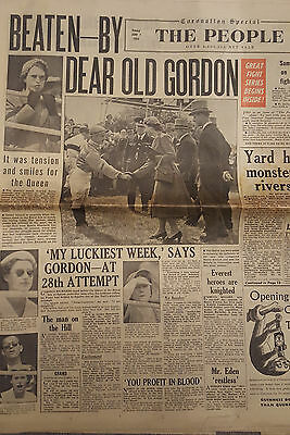 The People : June 7th 1953 - Gordon Richards on Pinza wins Epsom Derby