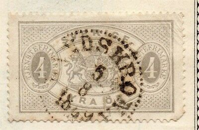 Sweden 1874-96 Early Issue Fine Used 4ore. Officials 123335