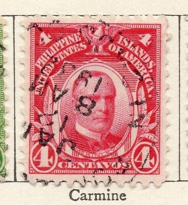 Philippine Islands 1908 Early Issue Fine Used 4c. 123416