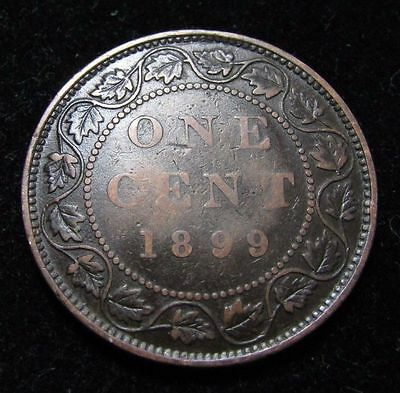 1899 Canada Large Cent Queen Victoria   With Free Shipping