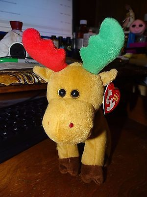 Ty Holiday Baby Beanie Harold the Christmas Moose (7 inch) MINT WITH TAGS