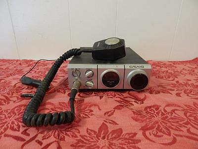 Vintage CB Radio  Craig CB with microphone and car jack