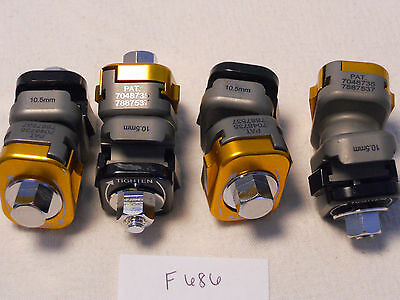 Lot 0F 4 Synthes Mr Safe 71064001 & 7048737 Clamp 10.5Mm To 5Mm (F686)
