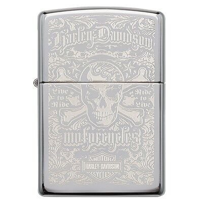 Zippo Harley Davidson High Polished Chrome Windproof Lighter - Brand new!