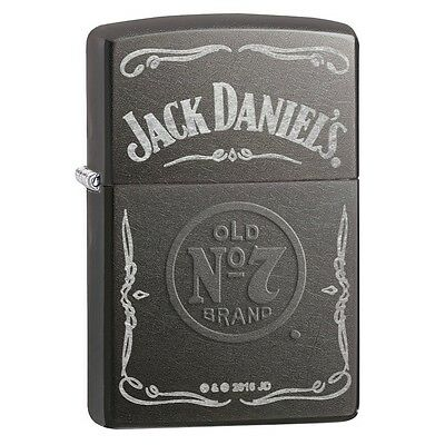 Zippo Jack Daniel's Label Grey Dusk Regular Lighter - Brand new!