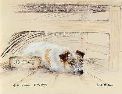 JACK RUSSELL TERRIER DOG LIMITED EDITION PRINT - Signed Artist Proof # 21/85