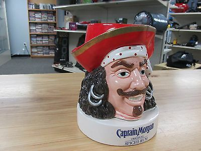 Vintage Captain Morgan Original Spiced Rum Pirate Figurine Bust ~Free Shipping~