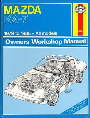 Mazda Rx7,rx-7 2 + 2 Sports Coupe,rotary Haynes Workshop Manual 1979-1985