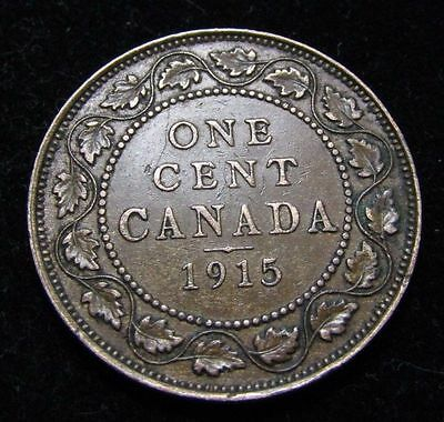 1915 Canada Large Cent King George V       With Free Shipping