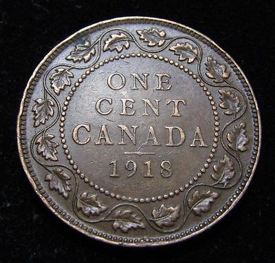 1918 Canada Large Cent King George V       With Free Shipping